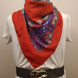 Large square scarf red and purple